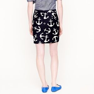 J. Crew Skirts - J.Crew Anchor Print Mini Skirt